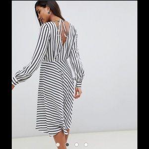 ASOS black & white striped dress
